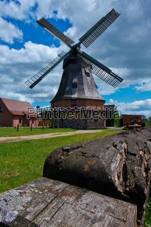 historische windmuehle malchow mecklenburg vorpommern germany