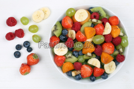 fruit salad with fruits like strawberries