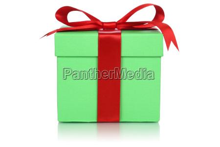gruene schachtel geschenk fuer geschenke an