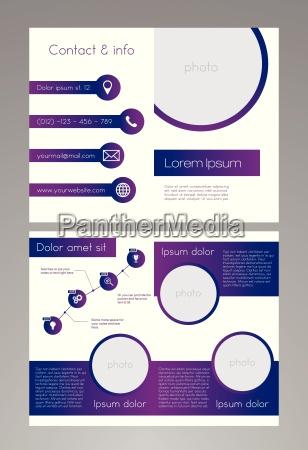 business broschuere vorlage lila und