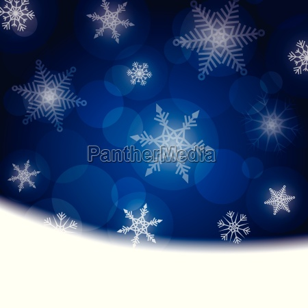 christmas background blue with white