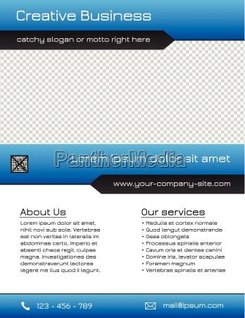 business multipurpose flyer template blue