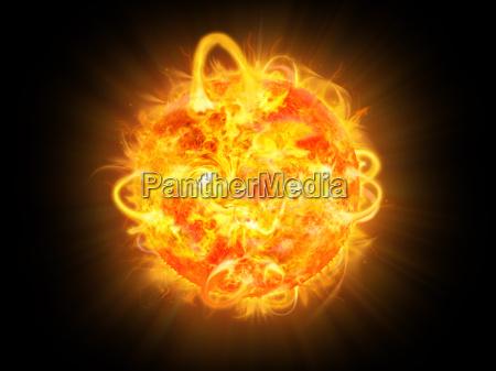 solar ilustracja wybuchu i space fantasy