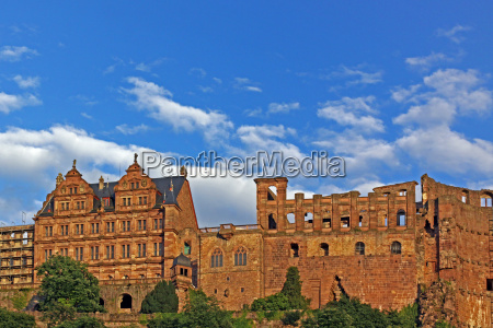 heidelberg castle built of sandstone