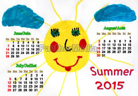 sommer sommerlich zeichnung photo foto bild