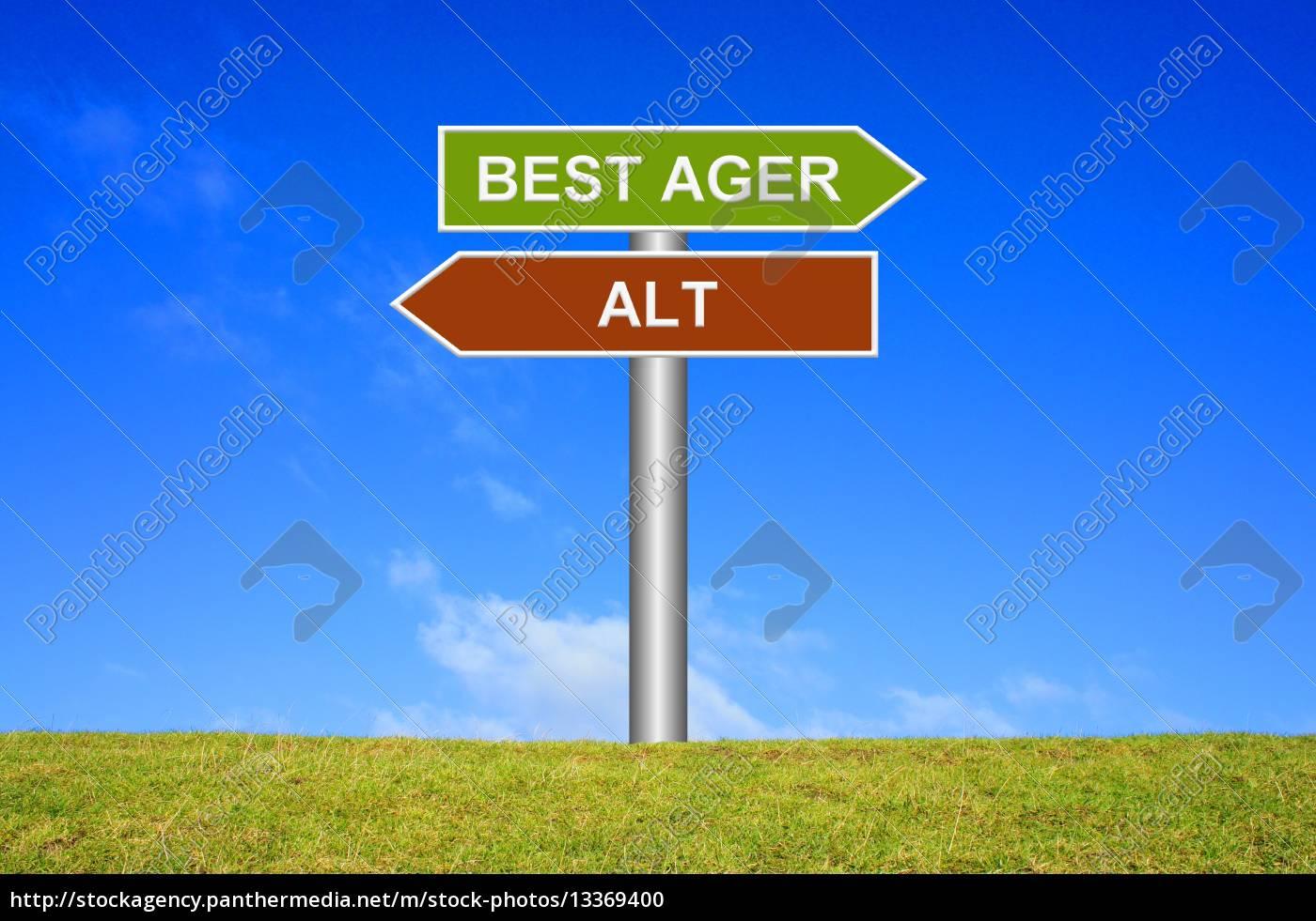 schild, wegweiser:, best, ager, statt, alt - 13369400