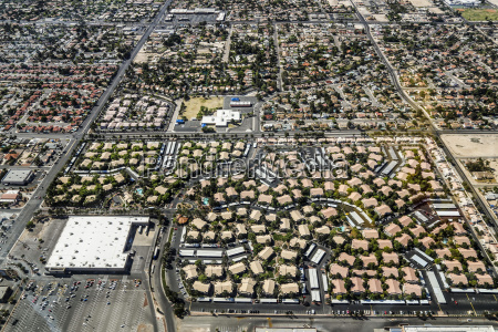 las vegas city residential area from