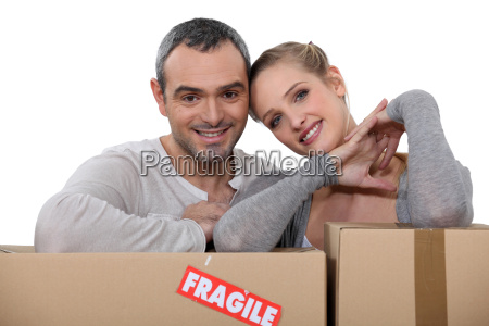 couple moving into new apartment