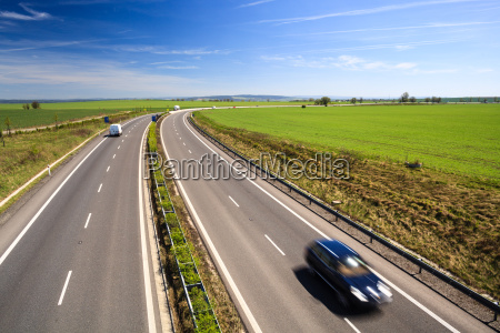 highway traffic on a lovely sunny