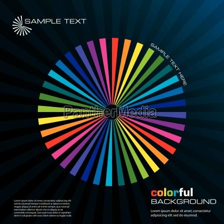 radial regenbogen konzept vektor illustration