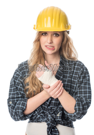 craftsman with injured hand