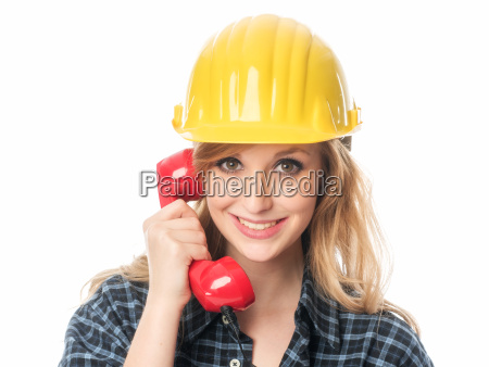 handyman on the phone