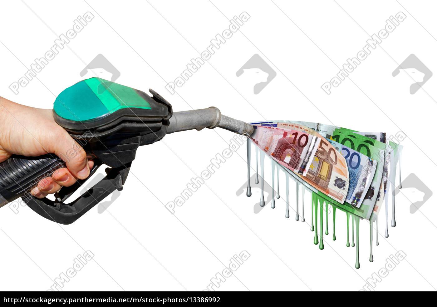 benzinpreis, hand, Benzin, geld, euro, kosten - 13386992