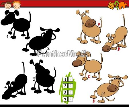 bildung schatten spiel cartoon