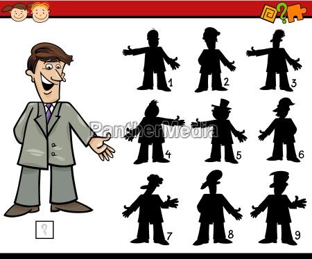 bildung schattenspiel cartoon