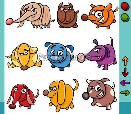 hunde spielfiguren cartoon abbildung