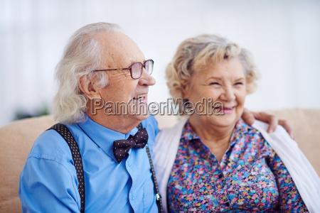 elegant senior couple