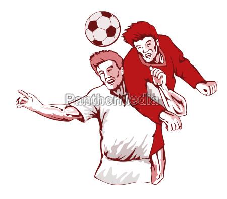 fussballspieler kopfball pleite