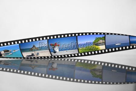 filmstreifen mit urlaubsfotos