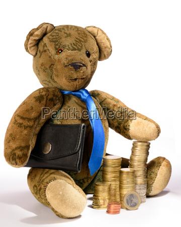 teddy als geschaeftsmann der stolz sein