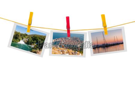 drei fotos von kroatien an der