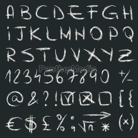 hand gezeichnet alphabet vektor