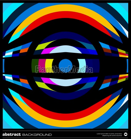 abstract retro circles background vector
