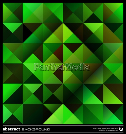 abstract green triangles background vector