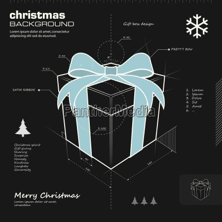 geschenk box design vektor hintergrund