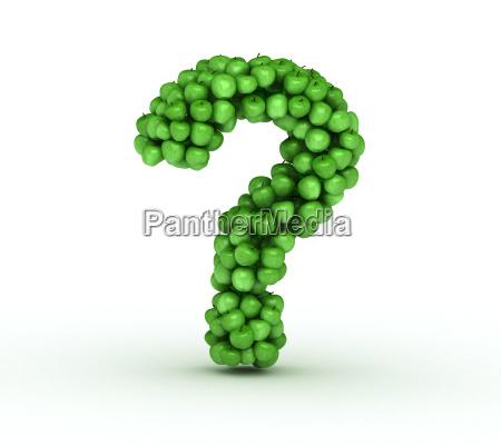 frage von verstreuten gruenen frischen aepfeln