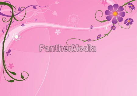 pink background and florals