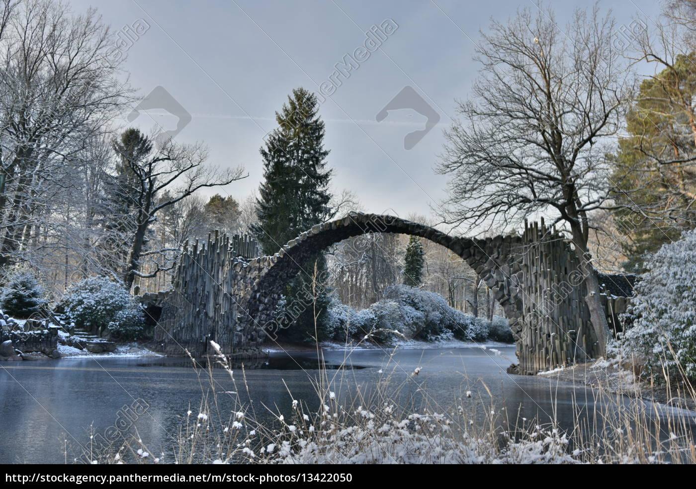 rakotzbücke, im, winter - 13422050