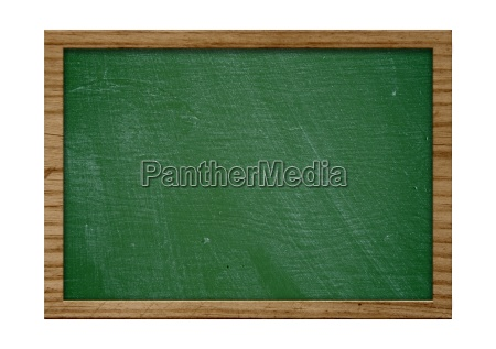 blank old blackboard with wooden frame