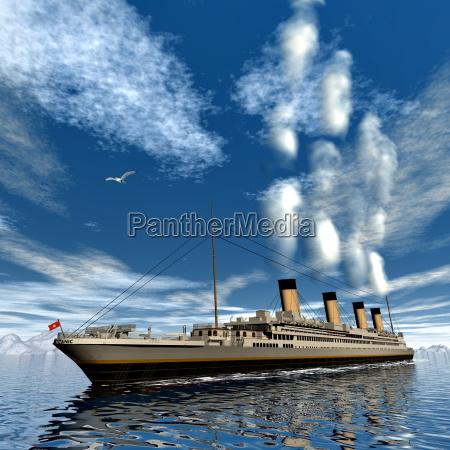 titanic schiff 3d render