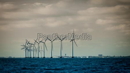 wind turbines power generator farms along