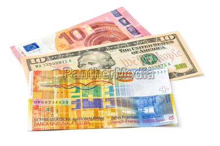 euro dollar und schweizer franken