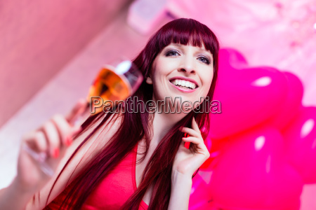 woman celebrating in a nightclub party