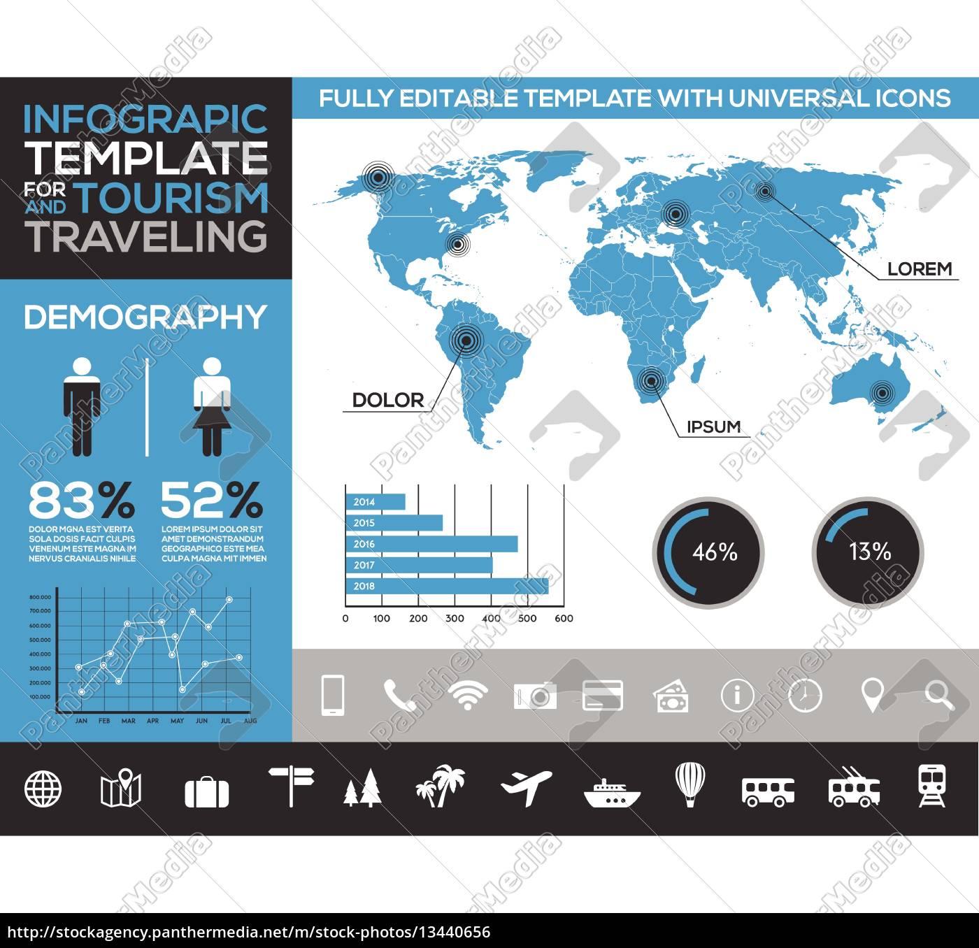 infografik vorlage für den tourismus,reisen und urlaub ...