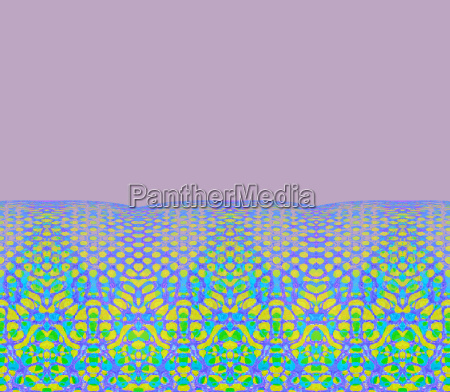 abstract hole pattern with floral border