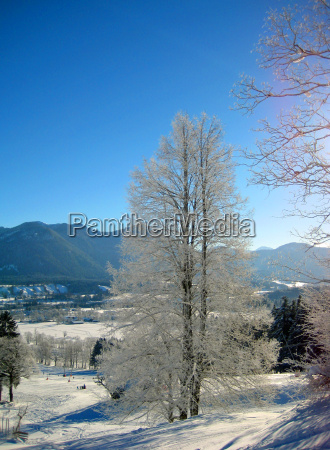 blue winter frost winter landscape blanket