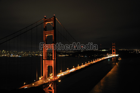 golden gate bridge vor skyline von