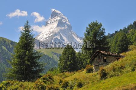 matterhorn zermatt praechtiger berg malerische