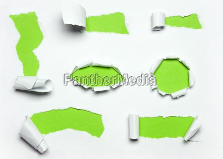 paper cracks green