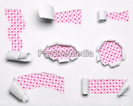 paper pink cracks