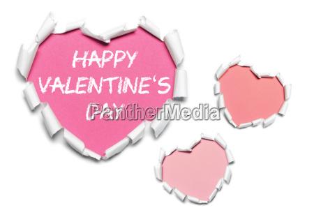 papier herzen rosa