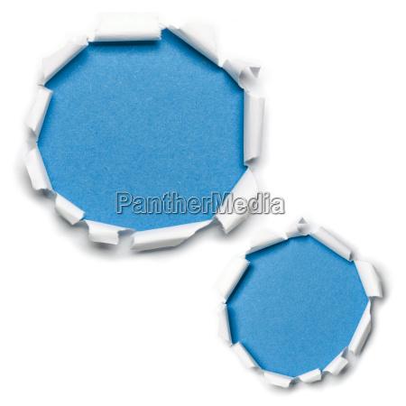 paper holes blue