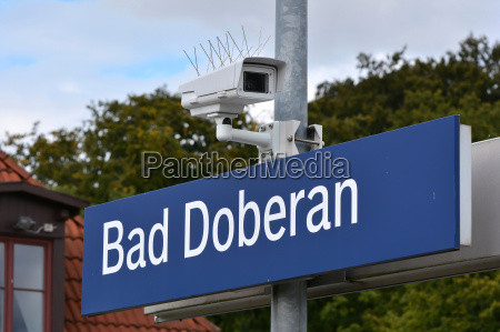 video surveillance on a german station