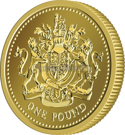 vector britische geld goldmuenze 1