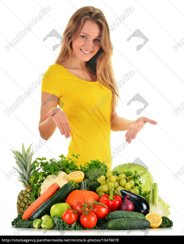 ausgewogene, ernährung, basierend, auf, rohem, bio-gemüse - 13476070