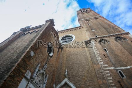 walls of basilica dei frari in